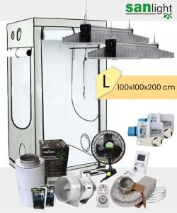 Growbox Komplettset SANlight EVO L 100x100x200cm