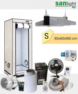 Growbox Komplettset SANlight EVO S 60x60x160cm