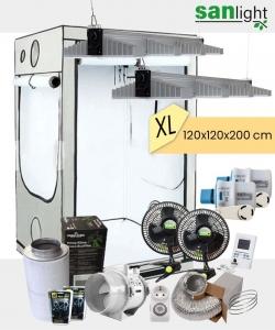 Growbox Komplettset SANlight EVO XL 120x120x200cm