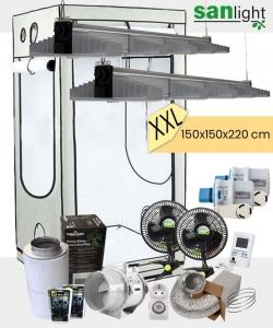 Growbox Komplettset SANlight EVO XXL 150x150x220cm