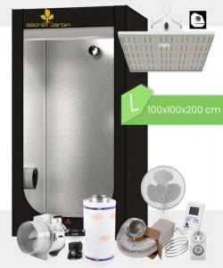 Growbox Komplettset Caluma LED L / 100x100x2000cm