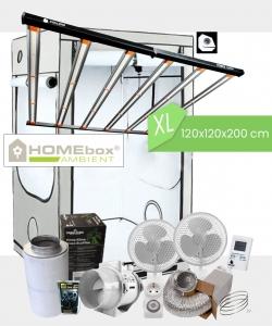 Growbox Komplettset Caluma Pro LED XL / 120x120x200cm