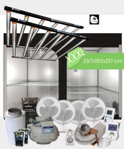 Growbox Komplettset Caluma Pro LED XXXL / 297x150x217cm