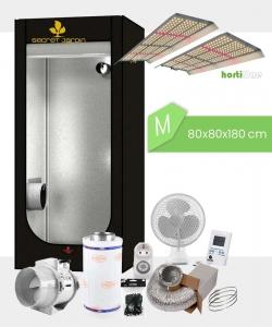 Growbox Komplettset hortiONE V2 M / 80x80x180cm