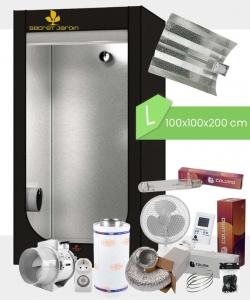 Growbox Komplettset Low Budget L, 400Watt NDL 100x100x200cm