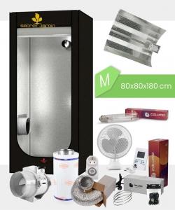 Growbox Komplettset Low Budget M, 250Watt NDL 80x80x180cm