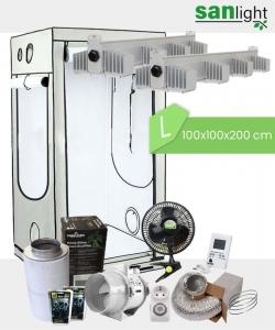 Growbox Komplettset SANlight L 100x100x200cm