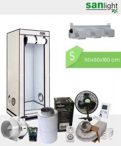 Growbox Komplettset SANlight S 60x60x160cm