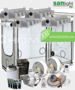 Growbox Komplettset SANlight XXL 240x120x200cm