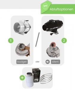 Growbox Komplettset Caluma Pro LED XXL / 150x150x220cm
