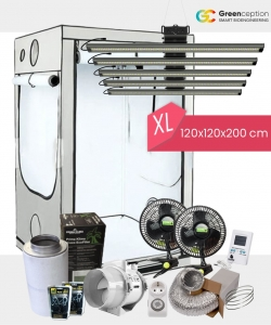 Growbox Komplettset Greenception XL 120x120x200cm