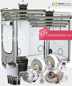 Growbox Komplettset Greenception XXL 240x120x200cm