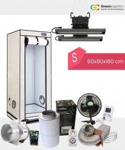 Growbox Komplettset Greenception S 60x60x160cm